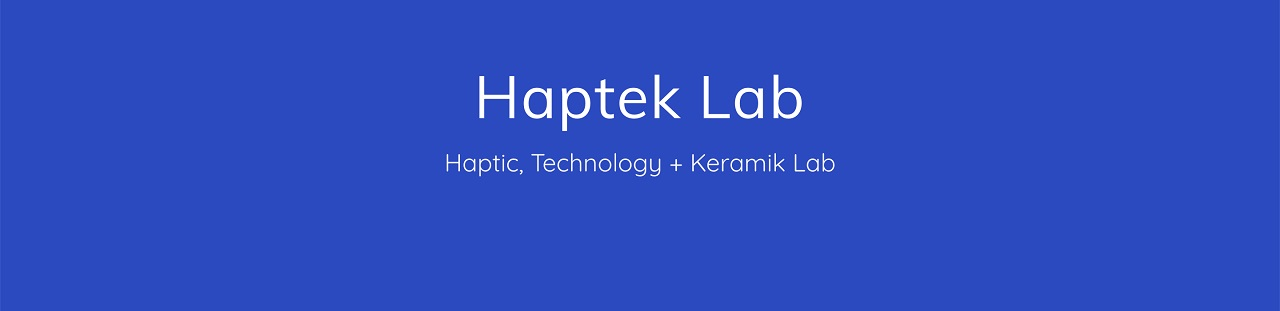 Haptek Logo - white writing on blue background